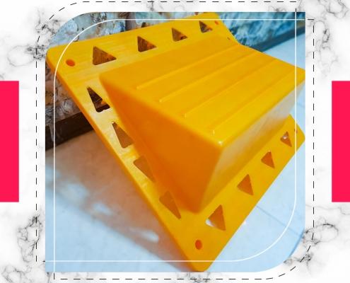 پله موقت کارگاهی پلاستیکی زرد