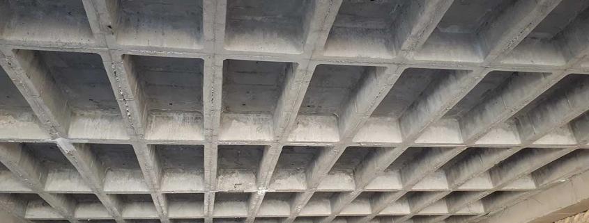 قالب وافل یک طرفه ، سقف وافل یک طرفه