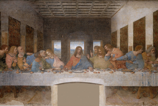 تاریخچه سقف وافل، نقاشی شام آخر داوینچی